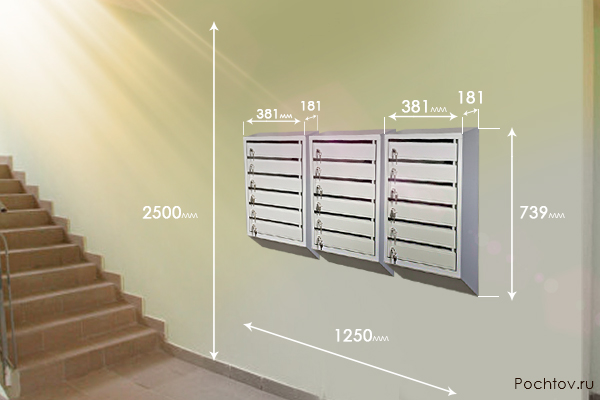Размещение почтовых ящиков в подъезде